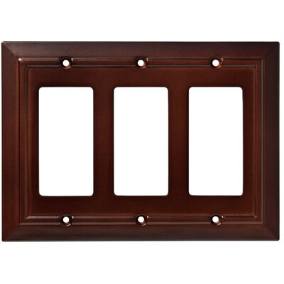 Classic Architecture Triple Decorator Wall Plate Color: Espresso