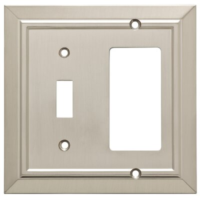 Classic Architecture Single Switch Decorator Wall Plate Finish: Satin Nickel