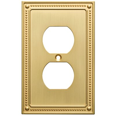 Classic Beaded 1 Gang Duplex Wall Plate Color: Brushed Brass