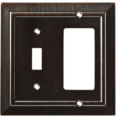 Classic Architecture Single Switch Decorator Wall Plate Finish: Venetian Bronze