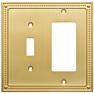 Classic Beaded Single Switch Decorator Wall Plate Finish: Brushed Brass