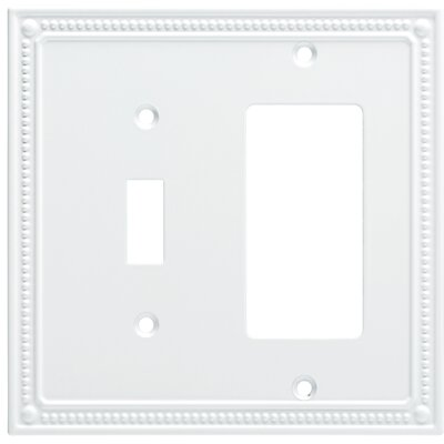Classic Beaded Single Switch Decorator Wall Plate Finish: Pure White