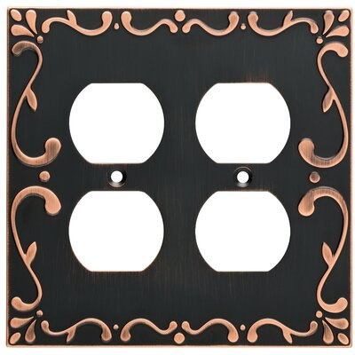 Classic Lace 2 Gang Duplex Wall Plate Finish: Bronze/Copper