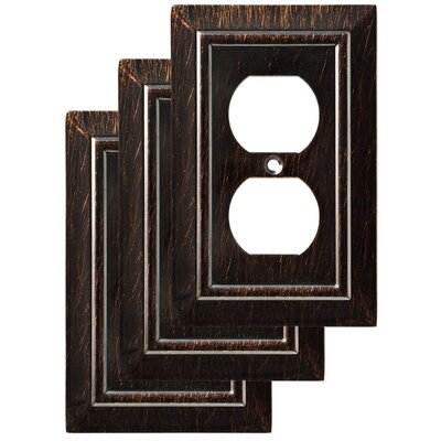 Classic Architecture 1 Gang Duplex Wall Plate Finish: Venetian Bronze
