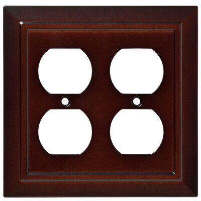 Classic Architecture Double Gang Duplex Wall Plate Finish: Espresso