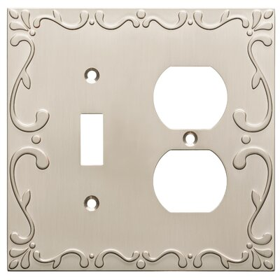 Classic Lace Single Switch Gang Duplex Wall Plate Finish: Satin Nickel