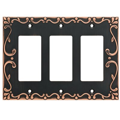 Classic Lace Triple Decorator Wall Plate Finish: Bronze/Copper