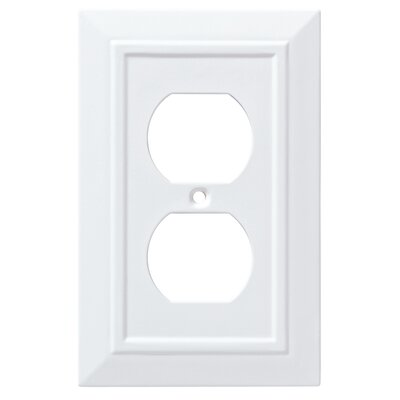 Classic Architecture 1 Gang Duplex Wall Plate Finish: Pure White