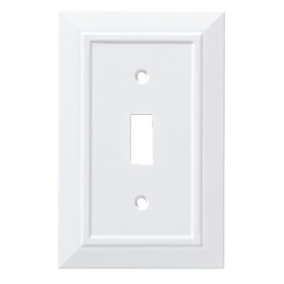 Classic Architecture Single Switch Wall Plate Color: Pure White