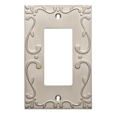 Classic Lace Single Decorator Wall Plate Finish: Satin Nickel