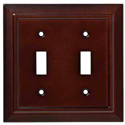 Classic Architecture Double Switch Wall Plate Color: Espresso