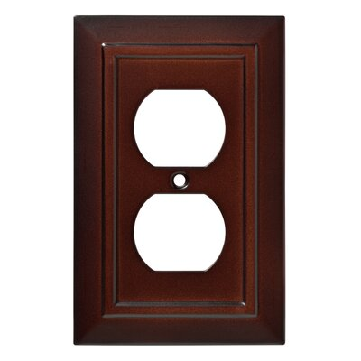 Classic Architecture 1 Gang Duplex Wall Plate Finish: Espresso