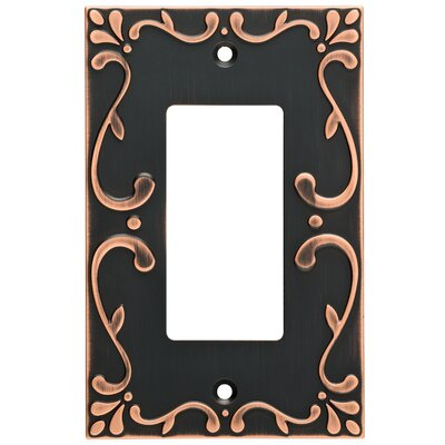 Classic Lace Single Decorator Wall Plate Finish: Bronze/Copper