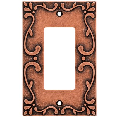 Classic Lace Single Decorator Wall Plate Finish: Sponged Copper