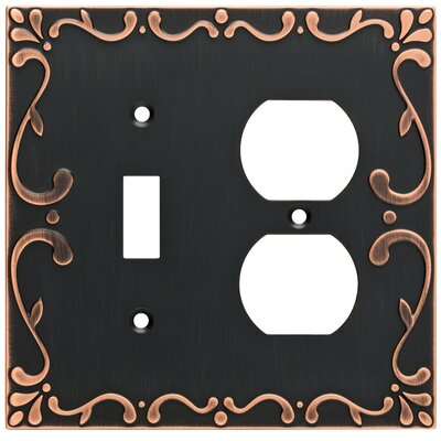 Classic Lace Single Switch Gang Duplex Wall Plate Finish: Bronze/Copper