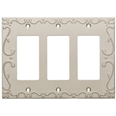 Classic Lace Triple Decorator Wall Plate Finish: Satin Nickel