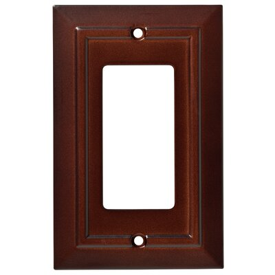 Classic Architecture Single Decorator Wall Plate Finish: Espresso