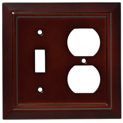 Classic Architecture Single Switch Gang Duplex Wall Plate Color: Espresso