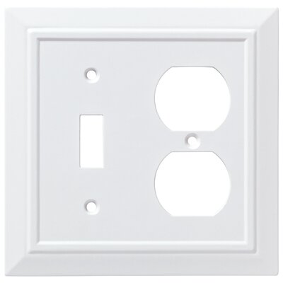 Classic Architecture Single Switch Gang Duplex Wall Plate Color: Pure White