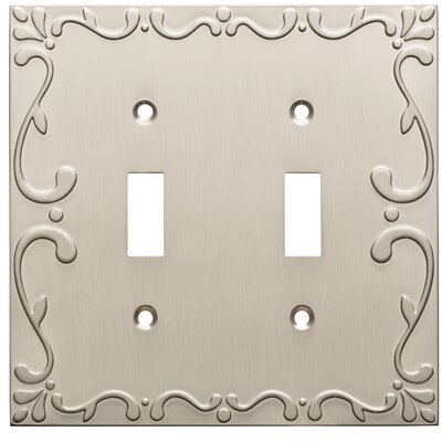 Classic Lace Double Switch Wall Plate Finish: Satin Nickel
