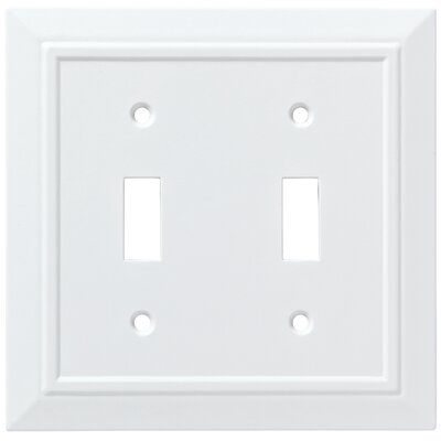 Classic Architecture Double Switch Wall Plate Finish: Pure White