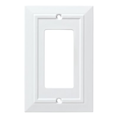 Classic Architecture Single Decorator Wall Plate Finish: Pure White