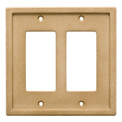 Tile Double Rocker Wall Plate Finish: Dark Sand