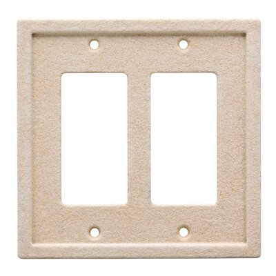 Tile Double Rocker Wall Plate Color: Light Sand