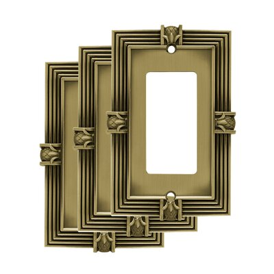 Pineapple Single Decorator Wall Plate Color: Tumbled Antique Brass