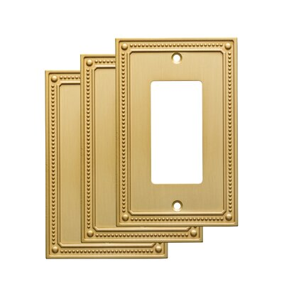 Classic Beaded Single Decorator Wall Plate Finish: Bronze/Copper