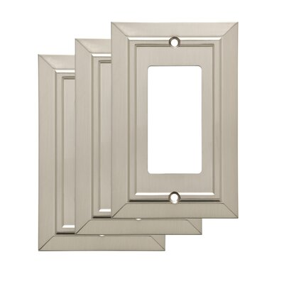 Classic Single Decorator Wall Plate Color: Satin Nickel