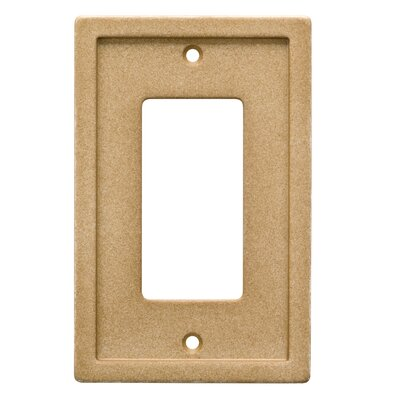 Tile Single Rocker Wall Plate Finish: Dark Sand