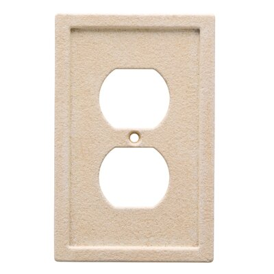 Tile Single Duplex Wall Plate Finish: Light Sand