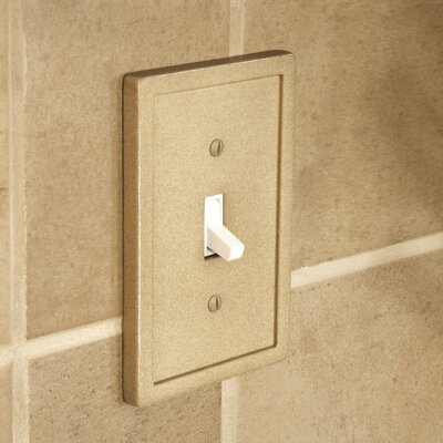 Tile Single Switch Wall Plate Finish: Dark Sand