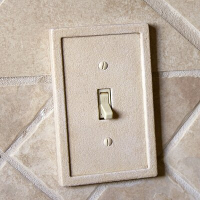 Tile Single Switch Wall Plate Color: Light Sand