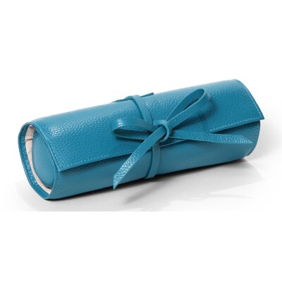 Jewelry Roll Tie Travel Case Color: Turquoise