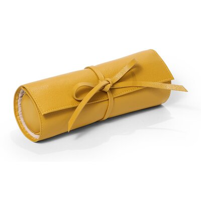 Jewelry Roll Tie Travel Case Color: Mustard