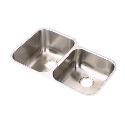 Elumina 31.25 x 20.5 Extra Deep Undermount Rectangular Kitchen Sink Bowl Configuration: Right