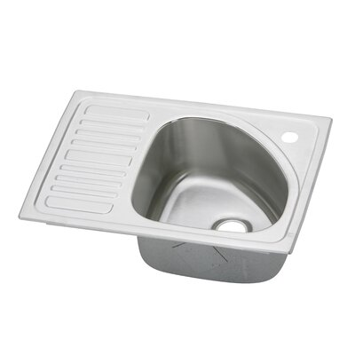 Gourmet 21 x 15 Self-Rimming Kitchen Sink Bowl Configuration: Right Side, Faucet Drillings: No Hole