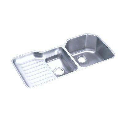 Lustertone 41.5 x 20.5 Undermount Double Bowl Kitchen Sink Bowl Configuration: Left