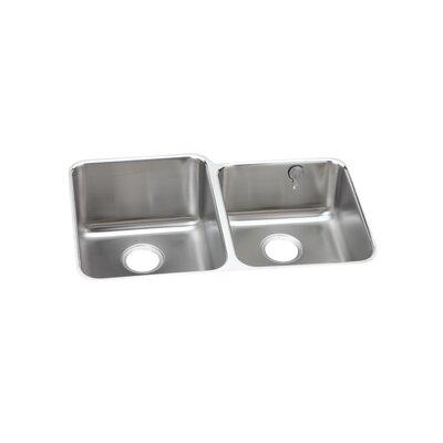 Gourmet 31.25 x 20.5 Double Basin Undermount Kitchen Sink