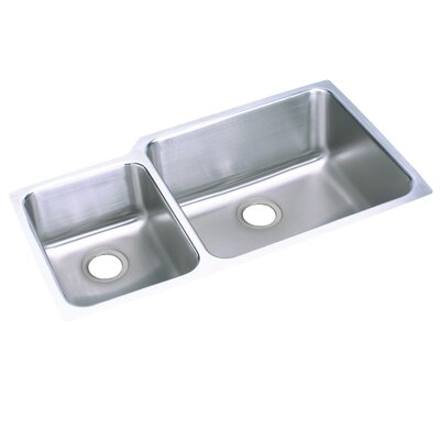Lusterone 35.25 x 20.5 Double Basin Undermount Kitchen Sink