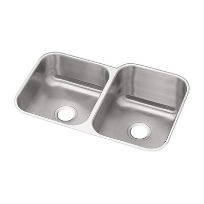Dayton 31.25 x 20.5 Double Bowl Undermount Kitchen Sink Bowl Configuration: Left