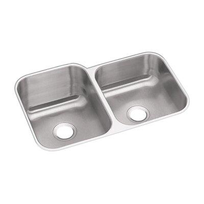 Dayton 31.25 x 20.5 Double Bowl Undermount Kitchen Sink Bowl Configuration: Right