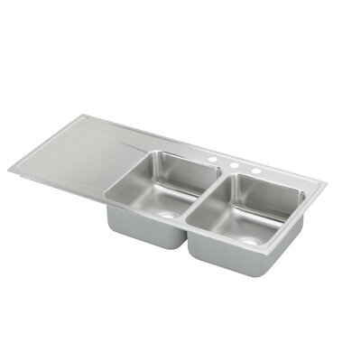 Lusterone 48 x 22 Double Basin Drop-In Kitchen Sink
