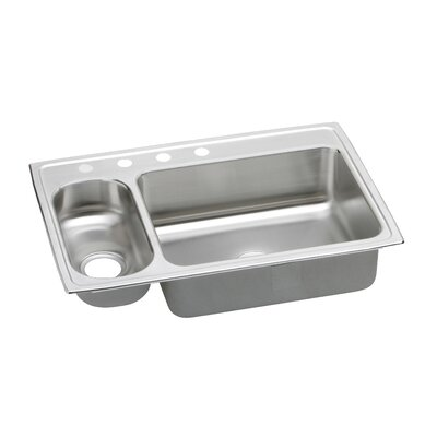 Pacemaker 33 x 22 Gourmet Kitchen Sink Bowl Configuration: Right, Faucet Drillings: 6 Hole