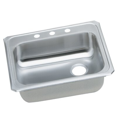 Gourmet 25 x 21.25 Drop-In Kitchen Sink