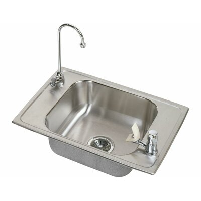 Celebrity 25 x 17 Classroom Kitchen Sink with Faucet Finish: Stainless Steel
