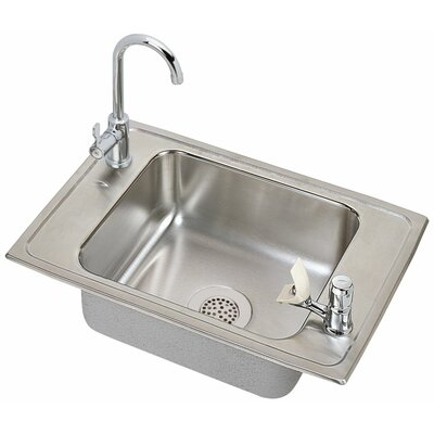 Celebrity 25 x 17 Classroom Kitchen Sink with Faucet Finish: Chrome