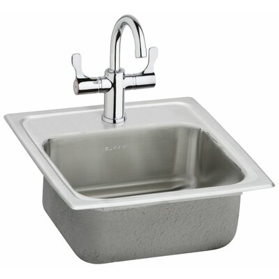 Pacemaker 15 x 15 Self-Rimming Bar Sink with Faucet